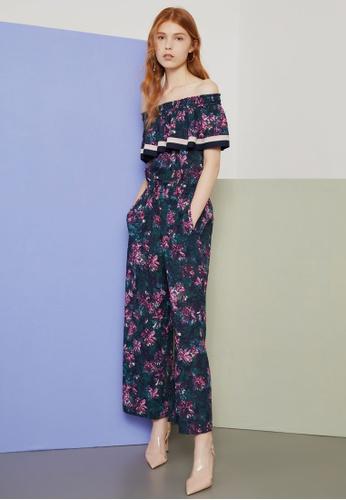 606114ddab8 Shop Hopeshow Off Shoulder Floral Jumpsuit Online on ZALORA Philippines