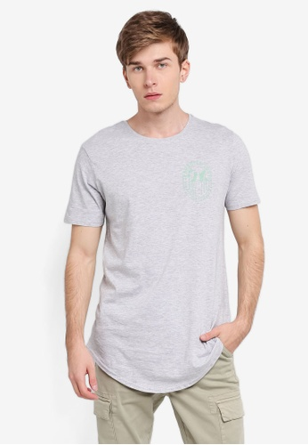 Factorie grey Curved Tail Tee FA880AA0SKMBMY_1
