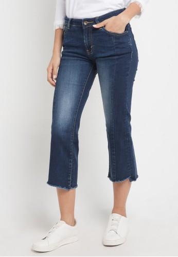 Lois Jeans blue Bootcut Capri Pants Stretch Denim F97F8AAB2CA79EGS_1