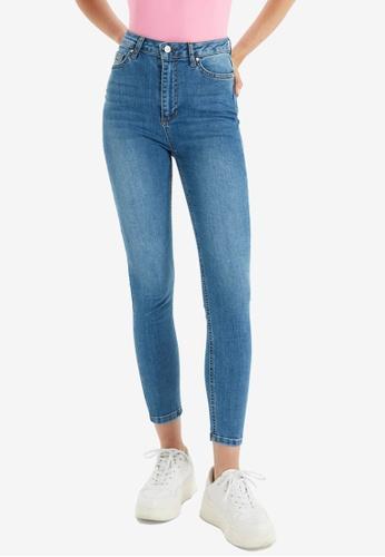 Trendyol blue High Waist Skinny Jeans 76F42AAA4B90C8GS_1
