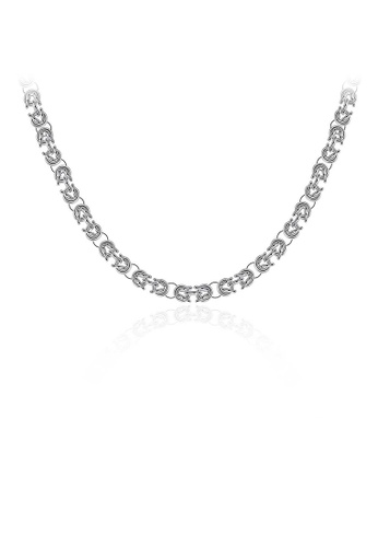 Glamorousky silver Fashion Round Necklace For Men 9F9F2AC268CF43GS_1
