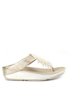eac918d3e Fitflop silver Rumba Toe-Thong Sandals E6058SH0EA9B2DGS 1