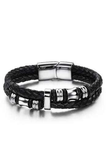Trendyshop black Men's Magnetic Buckle Bracelet 5661AAC9CDF1DAGS_1