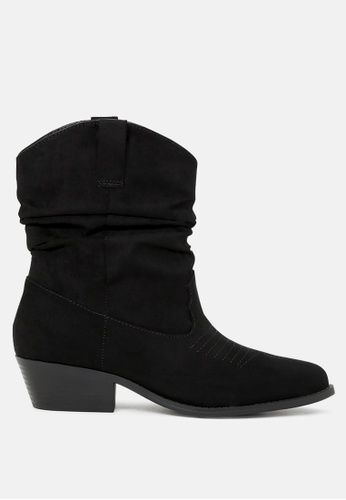 London Rag 黑色 黑色中筒靴 SH1748 291B2SH05C4268GS_1
