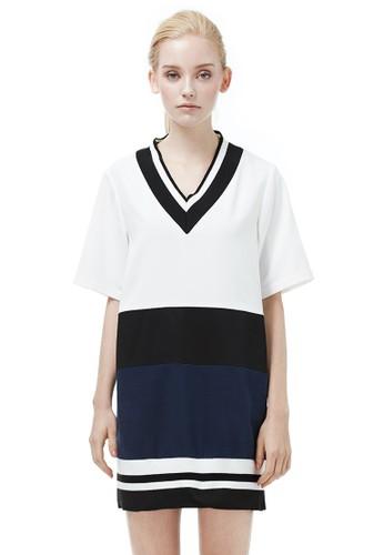 V領長版esprit門市運動洋裝, 服飾, 短洋裝