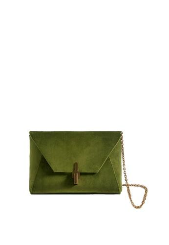 LINGWU green LINGWU Torres Velvet Chartreuse clutch 6EA79AC78D586AGS_1