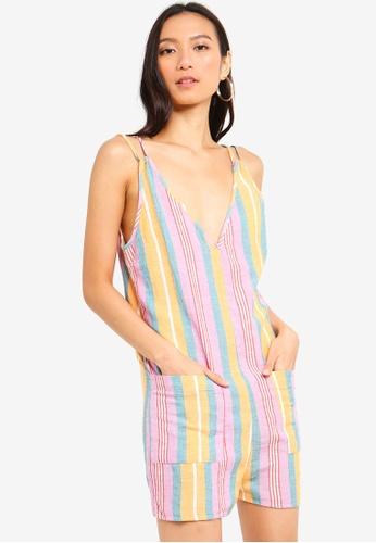 47de4068b5e0 Buy TOPSHOP Stripe Linen Romper Online on ZALORA Singapore