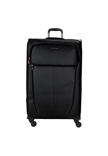 "Jean Francois black JEAN FRANCOIS NET 24"" Expandable 4-Wheel Spinner Soft Case 264E7AC70934B5GS_1"