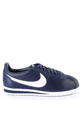 Nike navy Men's Nike Classic Cortez Leather Running Shoes C06FASHD77B3EBGS_1