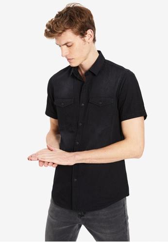 LC Waikiki black Skinny Short Sleeve Shirt D4AB9AA028014EGS_1