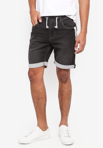 Indicode Jeans black Kadin Drawstring Denim Shorts C687FAA2B4D76FGS_1
