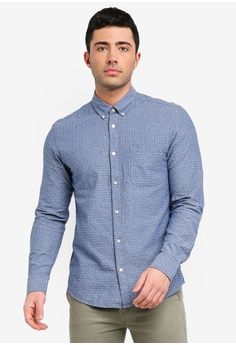 411bef93ac Only   Sons blue Ken Jacquard Dobby Shirt F1C36AAEED3401GS 1