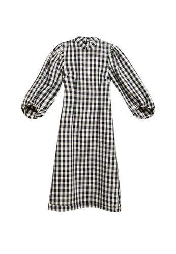 H&M black Cotton Dress B1CDCAA9FA64AAGS_1