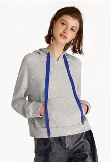 58cb92876c02 ... Calvin Klein Jeans S  239.00 NOW S  118.90 · Contrast Drawstring Hoodie  - Gray 2C5F6AA9ADB126GS 1