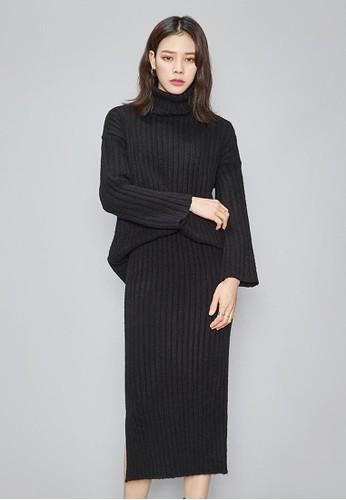 針織高esprit 澳門領上衣長裙兩件套, 服飾, 長洋裝