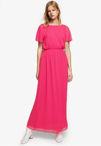 Mango pink Double-Layer Long Dress MA193AA0RV16MY_1