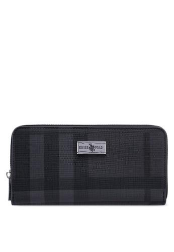 Swiss Polo grey Zipper Wallet 73189AC41D96DBGS_1