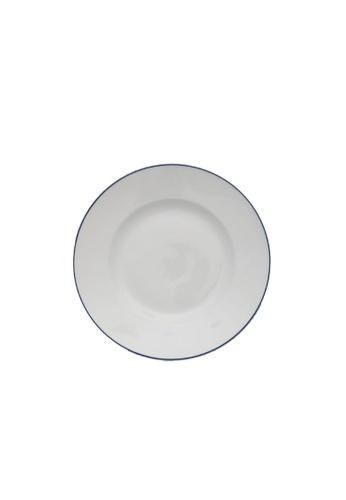 Minh Long I white Blue Line: Porcelain Flat Round Plate (20cm) D6391HLAFEA1F0GS_1