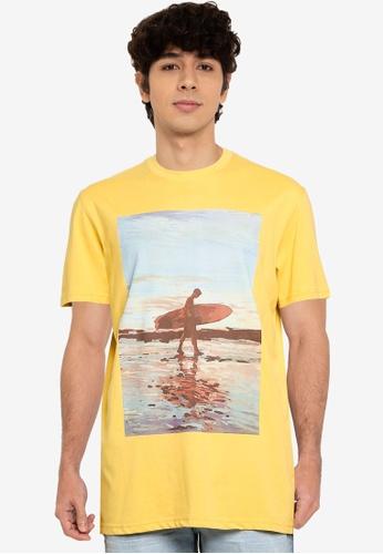 Springfield yellow Surf T-Shirt E4AB1AA14C4693GS_1