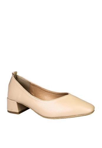 Twenty Eight Shoes beige Basic Square Toed Mid Heels VL1681 23C3FSH2592B73GS_1
