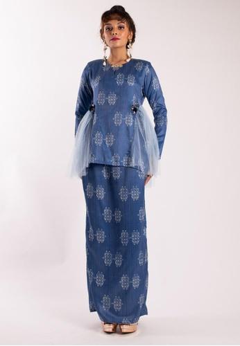 LIDYA KUALA LUMPUR blue Daelyn Kurung Kedah Modern 7ED3BAA28AC382GS_1