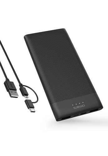 Omars black Power Bank 10000mAh with 15W Type-C and with Dual USB Output compatible with Smartphones and Tablets 7FC47ES513D366GS_1