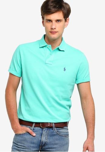 Knit Custom Fit Mesh Basic Polo Shirt trhQdCs