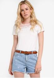 Dorothy Perkins white Guipure Lace Yoke T-Shirt DO816AA18QVXMY_1