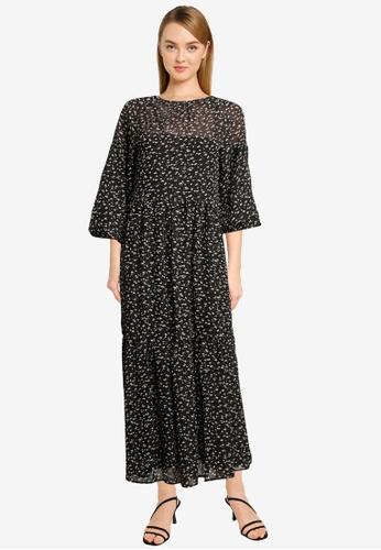 Vero Moda black Perla 3/4 Dress D9F3BAA906E05FGS_1