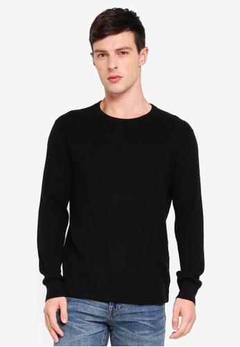 J.Crew 黑色 休閒針織毛衣 C90EFAAB5CE02EGS_1