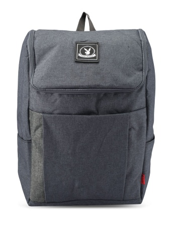Playboy grey Playboy Casual Backpack PL371AC0SK00MY_1