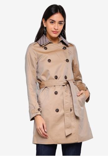 ESPRIT beige Woven Short Coat D0292AA8CBC232GS_1