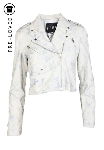 Veda white Pre-Loved veda Floral Leather Jacket 07F44AA5E05061GS_1