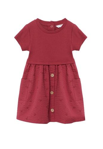MANGO BABY red Contrast-Bodice Dress 6B616KAB33CB11GS_1