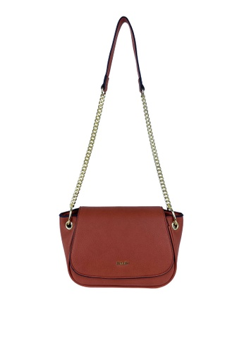 Mel&Co brown Faux Leather Chain Sling Bag 5C4B0ACEE7B833GS_1