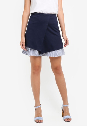ESPRIT navy Knitted Mini Skirt EC341AA6C0C8BDGS_1