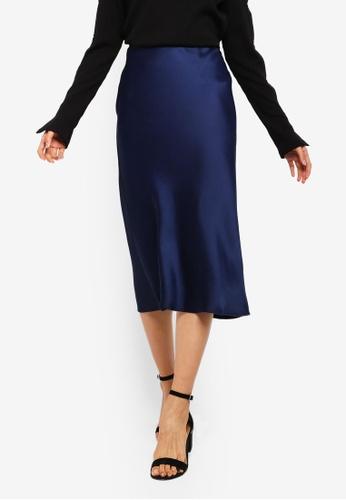 995fbf1e93 Buy TOPSHOP Petite Bias Midi Skirt | ZALORA HK