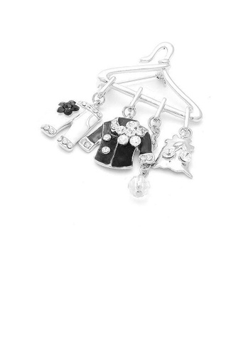 Glamorousky silver Fancy Clothes Hanger Brooch with Silver Austrian Element Crystals C30A1ACFF83EA6GS_1