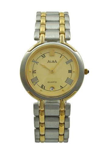 Alba silver ALBA Jam Tangan Pria - Silver Gold - Stainless Steel - AXB14D AL383AC47AAAID_1