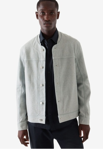 COS blue Tailored Denim Jacket FCD54AABE2CFDDGS_1