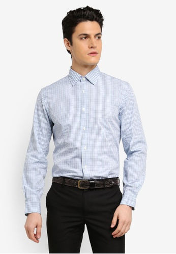 Brooks Brothers blue Red Fleece Nine To Nine Novelty Tealcheck Shirt 3867DAAB690775GS_1