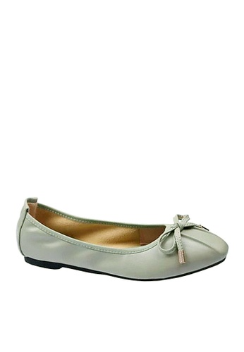 Twenty Eight Shoes 綠色 舒適杏形頭豆豆鞋 VF121822 D3C0ESH96346CBGS_1