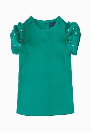 PERIWINKLE green Hannah Girls Blouse 7C6EDKACC2F63BGS_1