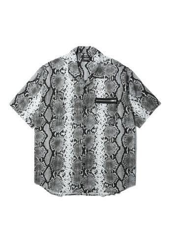 Fivecm grey Snake shirt B924BAA2A42B8AGS_1