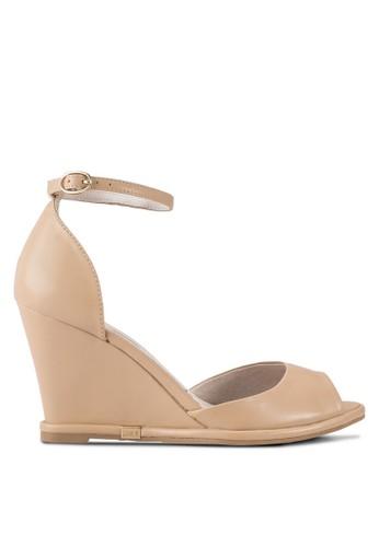 esprit tw露趾繞踝楔型跟涼鞋, 女鞋, 鞋