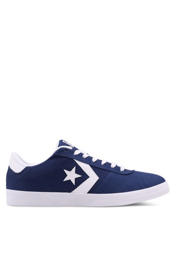 Converse white and navy Point Star Ox Sneakers CO302SH0SW8GMY_1