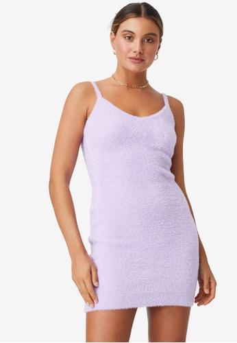 Supre purple Melissa Fluffy Mini Dress BFFEAAA9AA04DAGS_1