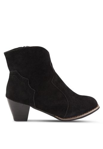 Sunnydaysweety 黑色 新款復古短靴 RA101212BK DA6D8SH9AD84C6GS_1