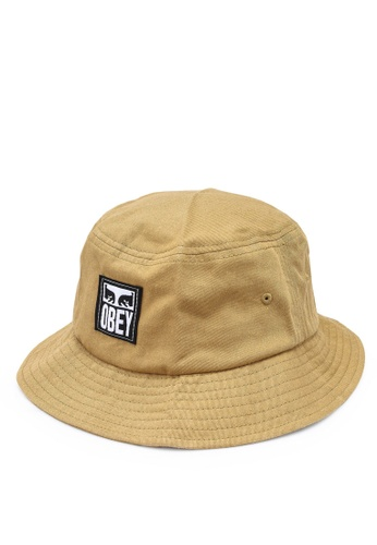 OBEY brown Icon Label Bucket Hat 79190AC0273A01GS_1