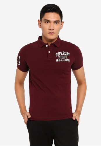 Superdry red Classic Superstate Polo Shirt - Original & Vintage 6470CAA8D20882GS_1